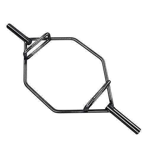 HulkFit Olympic 2-Inch Hex Weight Lifting Trap Bar, 1000-Pound Capacity - Regular (Black)