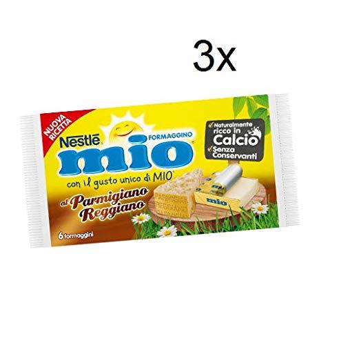 3x Nestlè Formaggino Mio Parmesan Parmigiano Käse Frischkäse reich Kalzium 125g