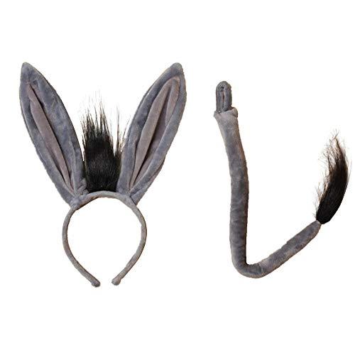Haar-Reif mit Zebra-Ohren und Zebra-Schwanz, Kostüm-Set, Fasching, Party