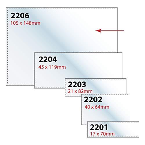 Veloflex 2206000 Beschriftungsfenster VELOCOLL A6 Sichttaschen Sichthüllen 105x148mm selbstklebend 10 Stück