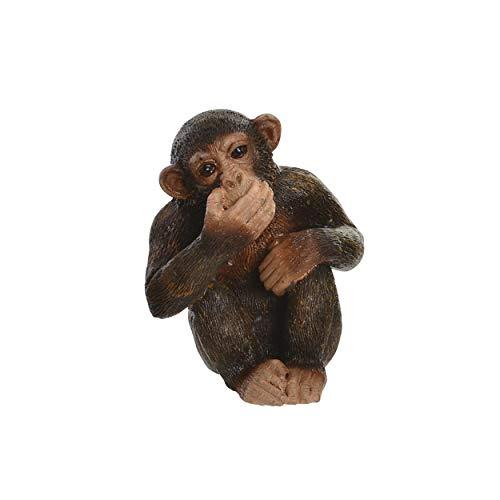 Figura Decorativa de Monos, Ver, oír y callar de Resina. Nikko. 4,50 x 6,00 cm - Hogar y más - B
