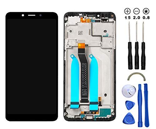 Snailcanfly Reemplazo Asamblea para Xiaomi Redmi 6/ 6A M1804C3DG DH DI M1804C3CG CH Ci 5.45inch Pantalla LCD Táctil Digitalizador Negro con Marco