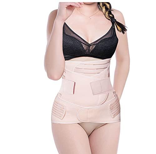 SHYL~JIER Postparto vientre Wrap 3 en 1 Post Parto Apoyo Recuperación – Cinturón de vientre, cintura/pelvis para mujer moldeadora del cuerpo de la barriga bandido cintura faja