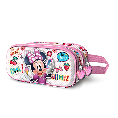 Karactermania Minnie Mouse OhMy!-Trousse 3D Double Federmäppchen, 22 cm, Mehrfarbig (Multicolour)