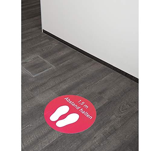 Fussbodenaufkleber 400x400 mm/Rot - Abstand halten - 2