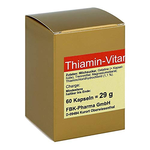 THIAMIN Kapseln Vitamin B1 60 St