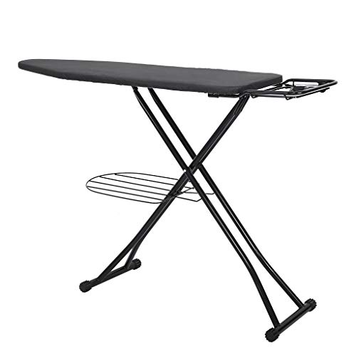 Hohaski Household Ironing Board, Professional Heavy Weight Ironing Board Extra Wide Top 4-Leg Large Ironing Board, Home Ironing Board 4 Leg Foldable Adjustable Board (48x15'') (A)