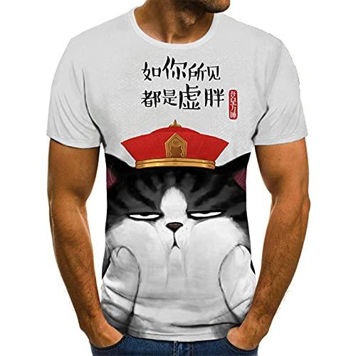 SSBZYES Camiseta para Hombre Camiseta De Verano De Manga Corta para Hombre Camiseta con Cuello Redondo para Hombre Camiseta Holgada Informal Camiseta De Manga Corta con Estampado Abstracto De Línea