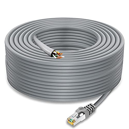 Cable Ethernet CAT6 de 100 m, OOSSXX, cable de red LAN compatible con los estándares CAT5/CAT6, cable de Internet RJ45 para cámara de seguridad PoE, NVR, conmutador, ordenador, router, Smart TV