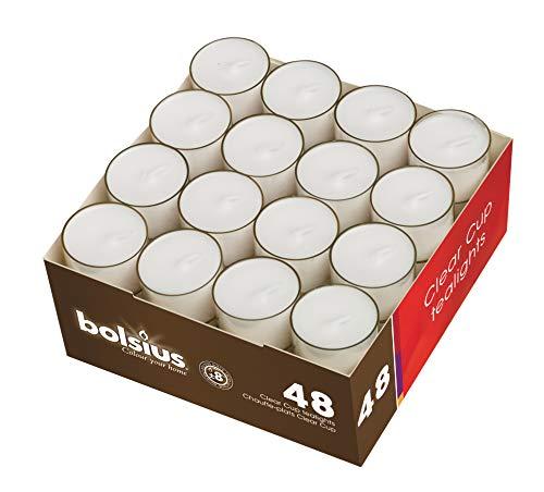 Bolsius Teelicht 48er Packung im PC-Cup 8 h