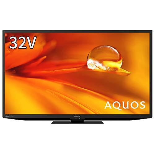 シャープ 32V型 液晶テレビ AQUOS ハイビジョン 外付けHDD 裏番組録画対応 2021年モデル 2T-C32DE-B