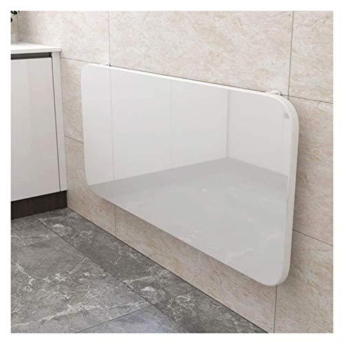 ZWYSL Klappbarer Wandtisch Laptop-Tisch Hochleistungs-Wandtisch Küchen- Und Esstisch Schreibtisch Computertisch Bock Schreibtisch (Color : White, Size : 100x50cm)