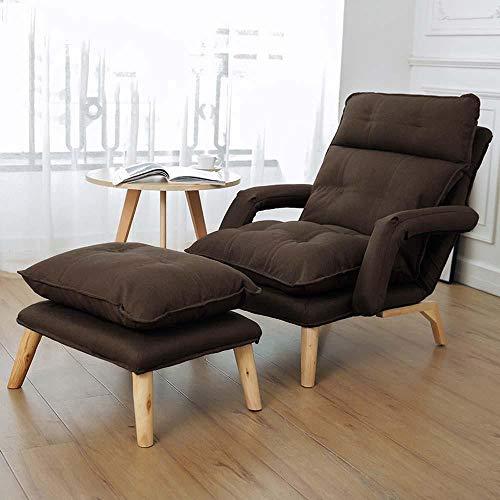 Beanbags puff relleno niños adulto chair Sillones de tela, reposabrazos de sofá ajustables, sillas reclinables plegables, sillas de enfermería y de enfermería para ancianos en el dormitorio-marrón