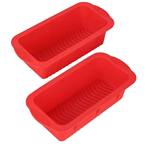 Set of Two Nonstick Loaf Pan For Homemade Bread Making,Soap, Fudge, Meatloaf and more (2 Pack Bread Mold)