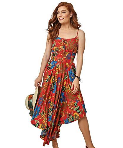 Joe Browns Damen Unique Hem Dress Lssiges Kleid, A-Rot Multi, 44
