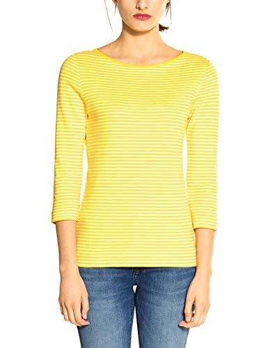 Street One Damen 314660 T-Shirt, Shiny Yellow, 42