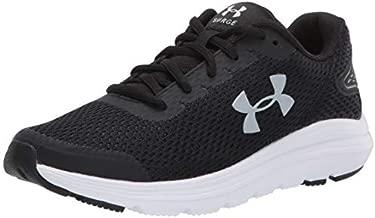 Under Armour Women's Surge 2 Running Shoe, Black (001)/White, 9
