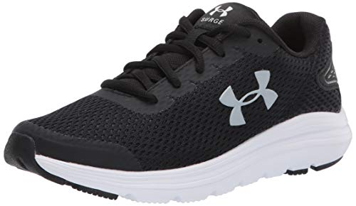 Under Armour womens Surge 2 Running Shoe, Black/White, 9.5 US