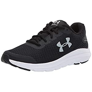 Under Armour womens Surge 2 Running Shoe, Black/White, 9.5 US