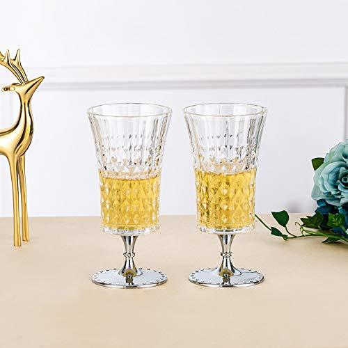 Becher-Trinkgläser, Biergläser Pilsner Belgische Gläser 2er-Set, Glas-Set, Rotweingläser Küchen-Unterhaltungsgeschirr Trinkglas für Wasser-, Saft- und Bar-Schnaps-Speisedekor Getränke, 9.8 Unzen