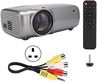 ZLSANVD LED Projector U43 1080P 720P 3000:1 5000lm 16.7K Mini LED Home 4.3Inch HD LED Projector with Built-in Speaker Up t...