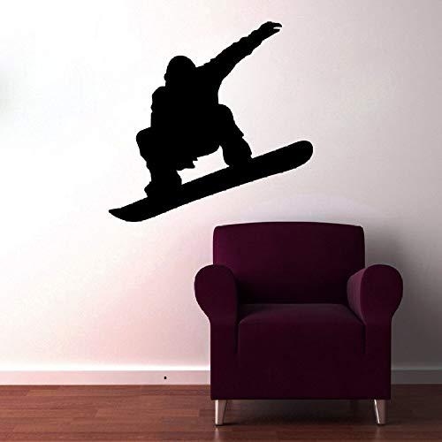 JXFM kinderen lievelingsspeler silhouet snowboard tattoos muur kunstenaar vinyl decoratie woonkamer wandbord 45 cm x 43 cm