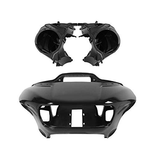 TCMT Inner Outer Headlight Fairing & Speakers Covers Fit For Harley Road Glide FLTR 15-19