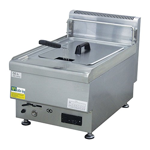 Friteuse gaz inox 10 litres/cuve - 1 cuve