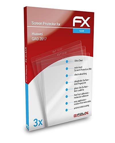atFolix Schutzfolie kompatibel mit Huawei GR3 2017 Folie, ultraklare FX Bildschirmschutzfolie (3er Set)
