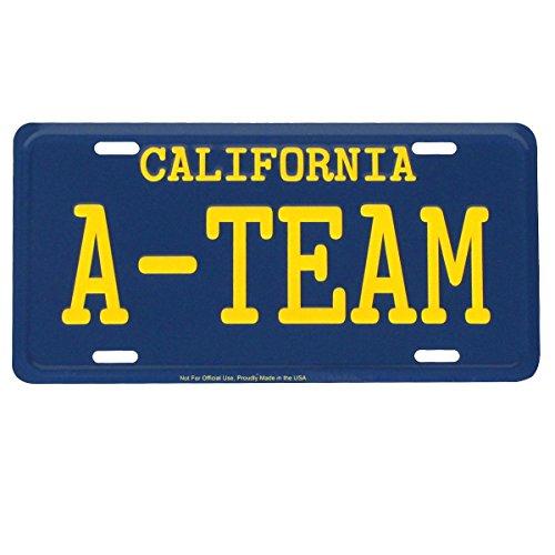 TG,LLC Treasure Gurus The A-Team Van CA geprägtes Aluminium-Kennzeichen