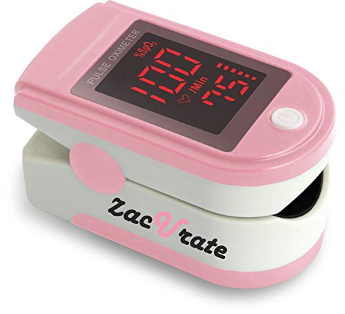 Zacurate Pro Series 500DL Fingertip Pulse Oximeter and Blood Oxygen Saturation Monitor (Blushing Pink)