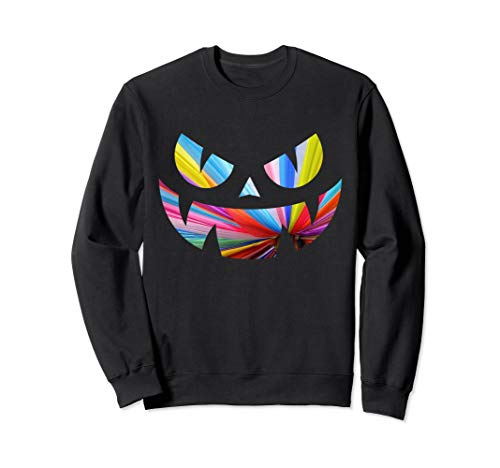 Gruseliger Smiley Jack O Laterne Sweatshirt