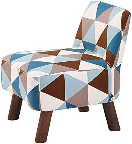 Faules Sofa YXX Niedriger Schemel-Schuhbank des festen Holzes für Tür, h erner Sofa-Innenstuhl mit entfernbarem waschbarem Stoffbezug (Farbe    4)