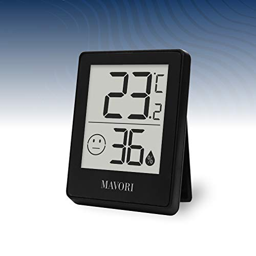 MAVORI® Hygrometer Thermometer digital - Präzises Raumthermometer und Luftfeuchtigkeitsmessgerät mit Komfortanzeige für eine verlässliche Klimakontrolle im Innenbereich - NEU !
