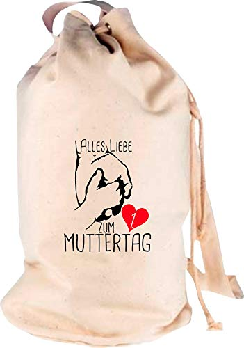 Shirtstown Sac à dos de voyage en mer avec inscription « Tout amour pour la 1ère fête des Mères », Adulte (unisexe), naturel, 30 cm x 53 cm x 30 cm