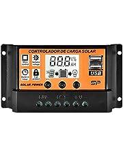 12V/24V Regulator Ladowania Slonecznego Ulepszony Panel Sloneczny Port USB Panel Sloneczny Bateria Inteligentny Regulator Wielofunkcyjny Regulowany Wyswietlacz LCD Kontroler Ulica