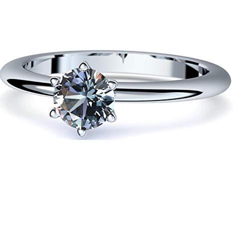 Blautopas Ring Silber 925 (***sehr hochwertiger Blautopas 5 mm***) + GRATIS Luxusetui Silberring blauer Stein Silberring Blautopas Blautopasringe Ringe Damen Schmuck AM195 SS925BTFA60