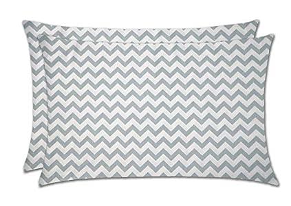 BESTELLIE - Fundas de almohada con cremallera de 200 hilos, tamaño 50 x 75 cm, 2 piezas, algodón, Onda., 50 x 75CM