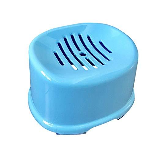 HTL Nützliches Badezimmer-Zubehör Badezimmer Hocker Niedriger Hocker Mehrzweck Kunststoff Verdicken Griffige Tragbares Mode Kreative Europäische Art-Badezimmer-Bade Ändern Schuhe Blau,30X24X22Cm