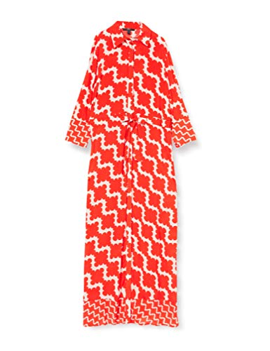 ESPRIT Collection Damen 040EO1E317 Kleid, 828/RED ORANGE 4, 36
