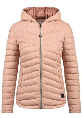 DESIRES Quella Damen Steppjacke Übergangsjacke Jacke Mit Kapuze, Größe:XL, Farbe:Mahog. Rose (4203)