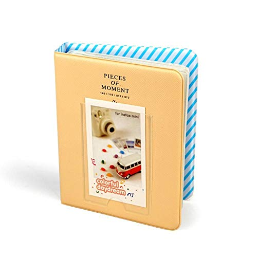 YIYYI Álbum de Fotos 64 Bolsillos Álbum de Fotos de 3 Pulgadas Mini Almacenamiento de Memoria Soporte de Imagen Instant Picture Case