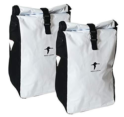 2X Fahrradtasche Red Loon Packtasche Gepäckträgertasche Gepäck Tasche LKW-Plane