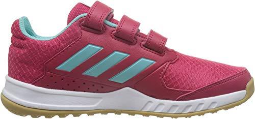 adidas Unisex-Kinder FORTA Gym CF K CG2680 Gymnastikschuhe, Mehrfarbig (Energy Pink F17/energy Aqua F17/ftwr White), 32 EU