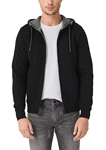 s.Oliver Herren 03.899.43.5249 Sweatshirt, Schwarz (Black 9999), Medium (Herstellergröße: M)