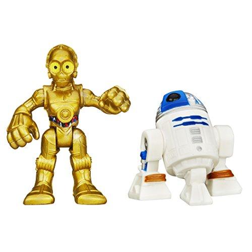 plakskool Juguete–Disney Star Wars Galactic Heroes–R2-D2y C-3P0Figura de acción de Juguete