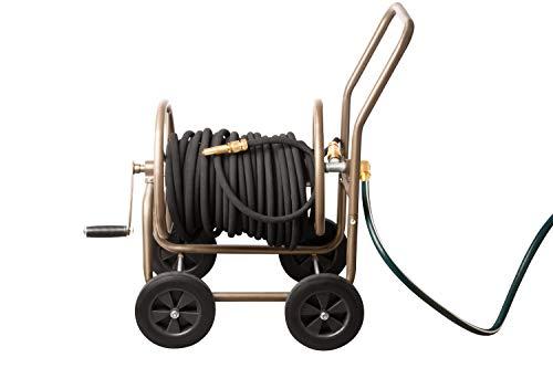 UPP Schlauchwagen ohne schlauch Deluxe mit Schutzhülle | Gartenschlauchwagen nimmt bis zu 60m Gartenschlauch auf | Der Schlauchhalter ist der ideale Helfer im garten für die Bewässerung