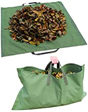 NNGT 2-in-1 herbruikbare Yard Leaf Bag Heavy Duty Tuin Afvalzakken voor het verzamelen van bladeren