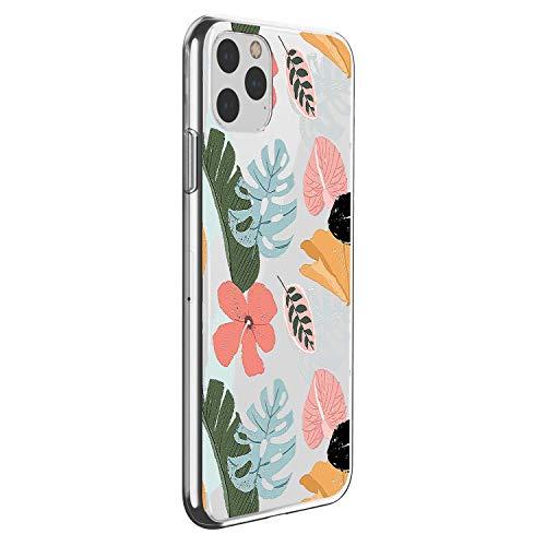 Suhctup Motivo Floral Funda Compatible con Xiaomi Redmi 4A,Ultradelgada Suave Transparente TPU Silicona Antigolpes Protector Diseño con Estampado Floral Vegetal Hermosa Caso