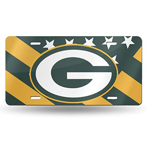 VF LSG Green Bay Packers License Plates Frames,Newest Unbreakable Aluminium Automotive License Plate Universal American Auto Easy Installation 6×12 inch